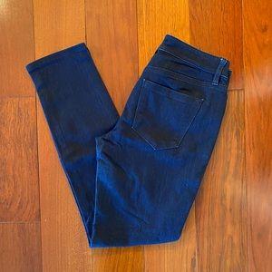 Loft Curvy Skinny Jeans Mid Rise Dark Wash 26/2